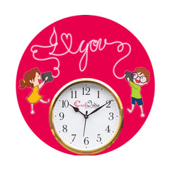 kwc952-ecraftindia-brother-sister-theme-wooden-colorful-round-wall-clock_1