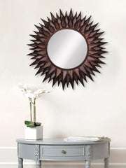 MIIWCACF_2403_M-eCraftIndia-Brown,-Copper-and-Black-Decorative-Metal-Handcarved-Wall-Mirror_1