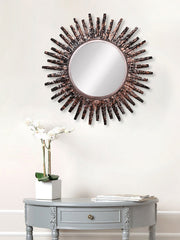 MIIWCACF_2404_M-eCraftIndia-Brown,-Copper-and-Black-Decorative-Metal-Handcarved-Wall-Mirror_1