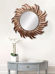 MIIWCACF_2405_M-eCraftIndia-Golden-and-Brown-Decorative-Metal-Handcarved-Wall-Mirror_1