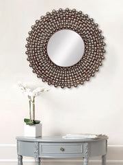 MIIWCACF_2406_M-eCraftIndia-Golden-and-Brown-Decorative-Metal-Handcarved-Wall-Mirror_1