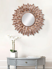 MIIWCACF_2409_M-eCraftIndia-Brown,-Copper-and-Black-Decorative-Metal-Handcarved-Wall-Mirror_1