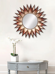 MIIWCACF_2411_M-eCraftIndia-Brown-and-Black-Decorative-Metal-Handcarved-Wall-Mirror_1