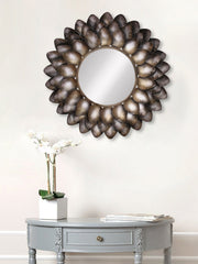 MIIWCACF_2412_M-eCraftIndia-Black-and-Brown-Decorative-Metal-Handcarved-Wall-Mirror_1