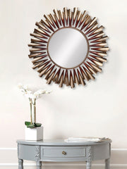 MIIWCACF_2413_M-eCraftIndia-Golden-and-Brown-Decorative-Metal-Handcarved-Wall-Mirror_1
