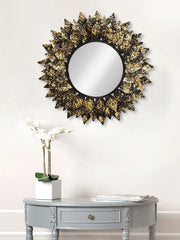 MIIWCACF_2414_M-eCraftIndia-Golden-and-Black-Decorative-Metal-Handcarved-Wall-Mirror_1