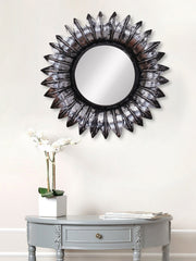 MIIWCACF_2418_M-eCraftIndia-Grey-and-Black-Decorative-Metal-Handcarved-Wall-Mirror_1
