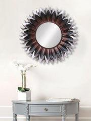 MIIWCACF_2419_M-eCraftIndia-Brown,-Black-and-Grey-Decorative-Metal-Handcarved-Wall-Mirror_1