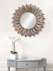 MIIWCACF_2420_M-eCraftIndia-Brown-Decorative-Metal-Handcarved-Wall-Mirror_1
