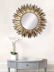 MIIWCACF_2424_M-eCraftIndia-Golden-and-Brown-Decorative-Metal-Handcarved-Wall-Mirror_1
