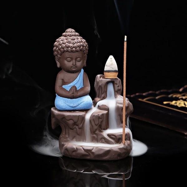 MSBIH901_BLU-eCraftIndia-Meditating-Monk-Buddha-Decorative-Showpiece-with-10-free-Smoke-Backflow-Scented-Cone-Incenses_1