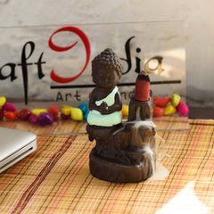 MSBIH901_GR-eCraftIndia-Meditating-Monk-Buddha-Decorative-Showpiece-with-10-free-Smoke-Backflow-Scented-Cone-Incenses_1