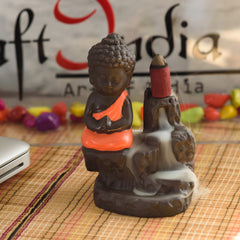 MSBIH901_RD-eCraftIndia-Meditating-Monk-Buddha-Decorative-Showpiece-with-10-free-Smoke-Backflow-Scented-Cone-Incenses_1