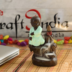 MSBIH904_GR-eCraftIndia-Karate-Style-Monk-Buddha-Decorative-Showpiece-with-10-free-Smoke-Backflow-Scented-Cone-Incenses_1