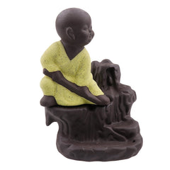 MSBIH105_YL-eCraftIndia-Karate-Style-Monk-Buddha-Smoke-Backflow-Cone-Incense-Holder-Decorative-Showpiece-with-10-free-Smoke-Backflow-Scented-Cone-Incenses_1