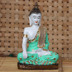 MSGB499-eCraftIndia-Decorative-Meditating-Lord-Buddha---Green-_1