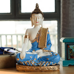 ecraftindia-polyresin-meditating-lord-buddha-blue_1
