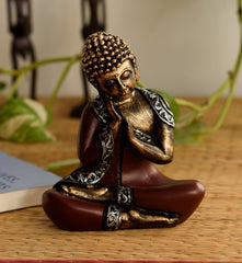 ecraftindia-antique-finish-handcrafted-thinking-buddha_1