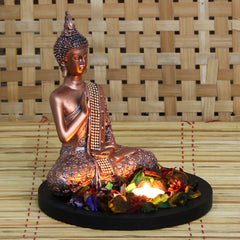 MSGB531W1-eCraftIndia-Copper-Finish-Meditating-Buddha-Decorative-Showpiece-with-Wooden-Base,-Fragranced-Petals-and-Tealight_1