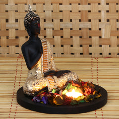 MSGB532W1-eCraftIndia-Golden-Meditating-Buddha-Decorative-Showpiece-with-Wooden-Base,-Fragranced-Petals-and-Tealight_1