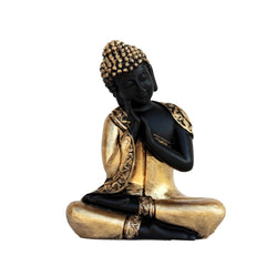 ecraftindia-golden-finish-handcrafted-thinking-buddha_1