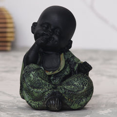 MSGB591_GRN-eCraftIndia-Decorative-Monk-Buddha_1