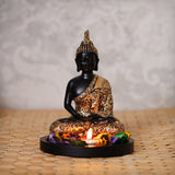ecraftindia-handcrafted-meditating-blessing-golden-buddha-with-wooden-base,-fragranced-petals-and-tealight_1