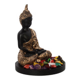 ecraftindia-handcrafted-meditating-blessing-golden-buddha-with-wooden-base,-fragranced-petals-and-tealight_5