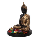 ecraftindia-handcrafted-meditating-blessing-golden-buddha-with-wooden-base,-fragranced-petals-and-tealight_6