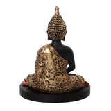 ecraftindia-handcrafted-meditating-blessing-golden-buddha-with-wooden-base,-fragranced-petals-and-tealight_7