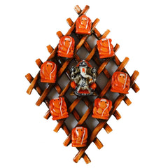 ecraftindia-wooden-wall-hanging-with-9-variants-of-lord-ganesha_1