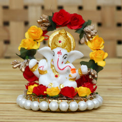 MSGG573-eCraftIndia-Lord-Ganesha-Idol-on-Decorative-Handcrafted-Plate-for-Home-and-Car_1