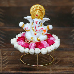 MSGG576-eCraftIndia-Lord-Ganesha-Idol-on-Decorative-Handcrafted-Plate-for-Home-and-Car_1