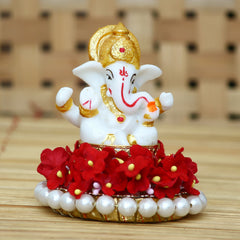 MSGG577-eCraftIndia-Lord-Ganesha-Idol-on-Decorative-Handcrafted-Plate-for-Home-and-Car_1
