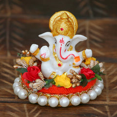 MSGG579-eCraftIndia-Lord-Ganesha-Idol-on-Decorative-Handcrafted-Plate-for-Home-and-Car_1
