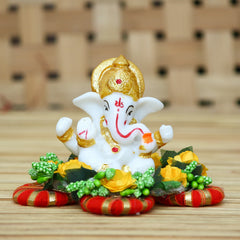 MSGG580-eCraftIndia-Lord-Ganesha-Idol-on-Decorative-Handcrafted-Plate-for-Home-and-Car_1
