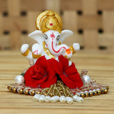 MSGG581-eCraftIndia-Lord-Ganesha-Idol-on-Decorative-Handcrafted-Plate-for-Home-and-Car_1