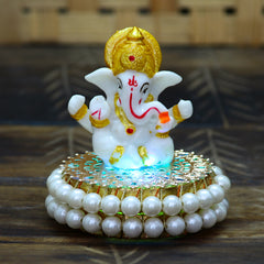 MSGG588-eCraftIndia-Lord-Ganesha-Idol-on-Decorative-Handcrafted-Plate-for-Home-and-Car_1