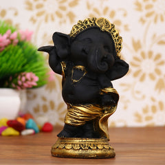 MSGG593D-eCraftIndia-Golden-and-Black-Lord-Ganesha-Dancing-Avatar-Decorative-Showpiece_1