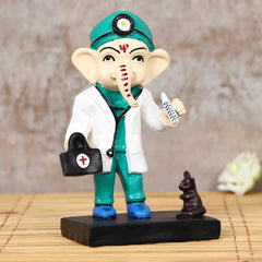 MSGG626-eCraftIndia-Decorative-Lord-Ganesha-Idol-in-Doctor-Avatar_1