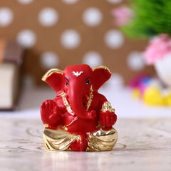 MSGGCAR526_RD-eCraftIndia-Gold-Plated-Red-Appu-Ganesha-Decorative-Showpiece-for-Home/Temple/Office/Car-Dashboard_1