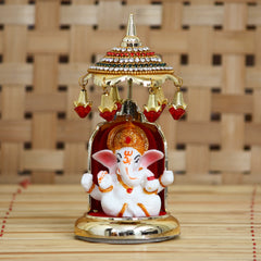 MSGGCAR530-eCraftIndia-Decorative-Lord-Ganesha-Idol-with-Designer-Chatri-for-Car-Dashboard,-Home-Temple-and-Office-Desks_1