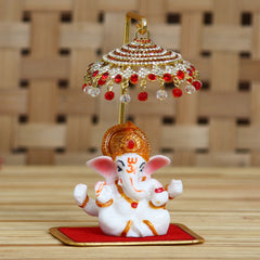 MSGGCAR532-eCraftIndia-Decorative-Lord-Ganesha-Idol-with-Designer-Chatri-for-Car-Dashboard,-Home-Temple-and-Office-Desks_1