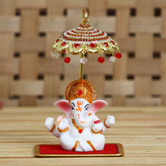 MSGGCAR536-eCraftIndia-Decorative-Lord-Ganesha-Idol-with-Designer-Chatri-for-Car-Dashboard,-Home-Temple-and-Office-Desks_1