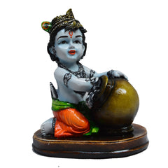 eCraftIndia Decorative Showpiece of Makhan Chor/Baal Krishna