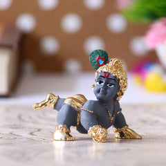 MSGKCAR500_GRY-eCraftIndia-Gold-Plated-Laddu-Gopal/Lord-Krishna-Decorative-Showpiece-for-Home/Temple/Office/Car-Dashboard_1