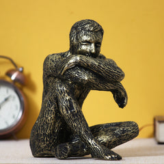 MSMAN500-eCraftIndia-Man-Sitting-in-Thinking-Position-Decorative-Statue_1