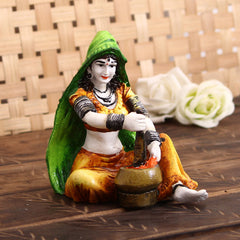 MSRAJ523-eCraftIndia-Rajasthani-Lady-Decorative-Statue_1