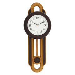 PCCW747_COLA-eCraftIndia-Brown-Round-Wooden-Pendulum-Wall-Clock_1