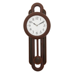 PCCW747_ROSEWOOD-eCraftIndia-Brown-Round-Wooden-Pendulum-Wall-Clock_1